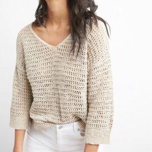 NWT GAP | Crochet Pullover V-neck Sweater